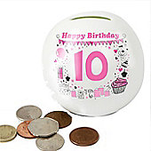 Personalised Big Age Girl Money Box