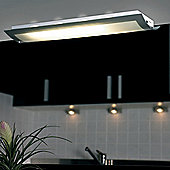 Endon Lighting Large Flush Mount in Matt Chrome
