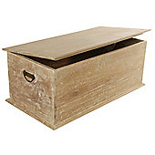 Papa Theo Small Blanket Box - Natural Limed finish - Large