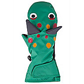 Dinosaur Kids Ski Gloves - Green