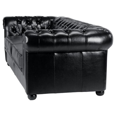 Leather Sofa Bed, Black from our Sofa Beds range - Tescocom