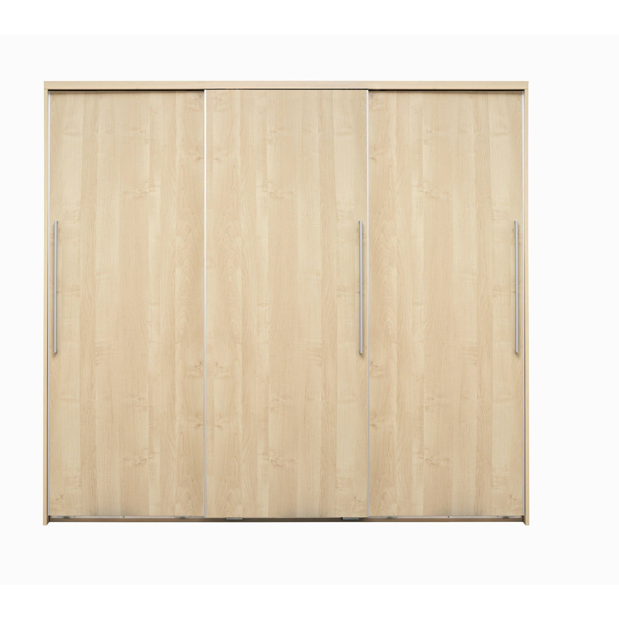 Caxton Strata 3 Door Sliding Wardrobe in Pear Wood at Tesco Direct