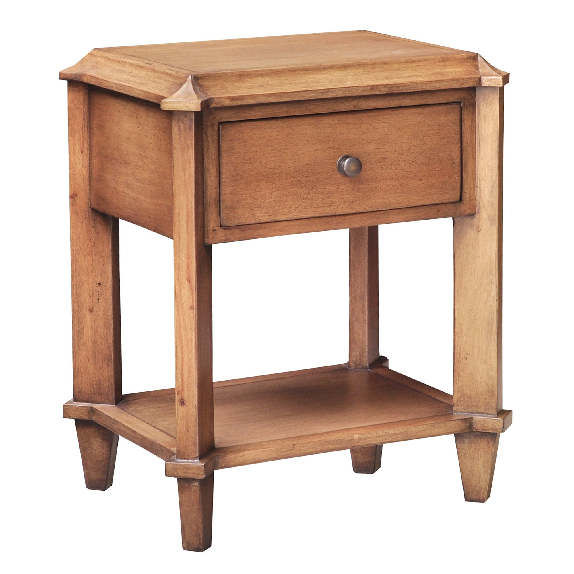 Lock stock and barrel Shell Knowle Side Table in Mahogany at Tesco Direct