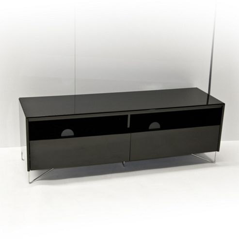 RGE Julia 2 Drawers Multi-Media TV Storage and Display Unit - Lacquer Black High Gloss