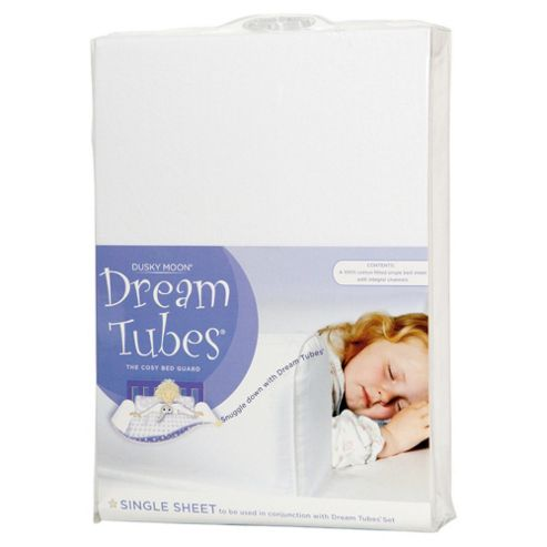 Dream Tubes Microfibre Single Bed Spare Sheet, White