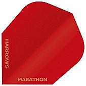 Harrows Marathon Solid Matt Red Standard Dart Flights Pack of 10