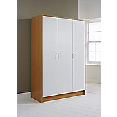 Elements Halden 3 Door Wardrobe - White