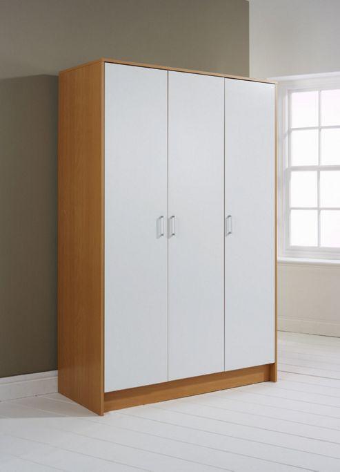 Elements Halden 3 Door Wardrobe - White