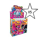 Topps Trolls Trading Card Game - 5 Packs Supplied