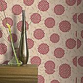 Graham & Brown Flora Wallpaper - Red