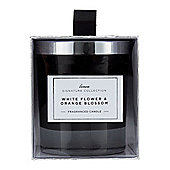 Linea White Flowers & Orange Blossom Candle In Black