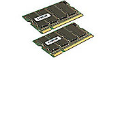Crucial Sodimm Laptop Memory Upgrade (4GB Kit - 2GBx2,200-pin,DDR2 PC2-5300,Cl=5 1.8v)