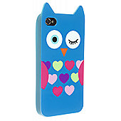 Trendz iPhone 4 and iPhone 4S Blue Owl Character Case (Blue)