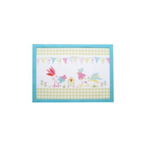 Patchwork Chickens Lap Tray