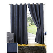 Hamilton McBride Provence Lined Eyelet Navy Curtains - 90x72 Inches (229x183cm)