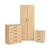 Ideal Furniture Budapest Bedroom Collection - Beech