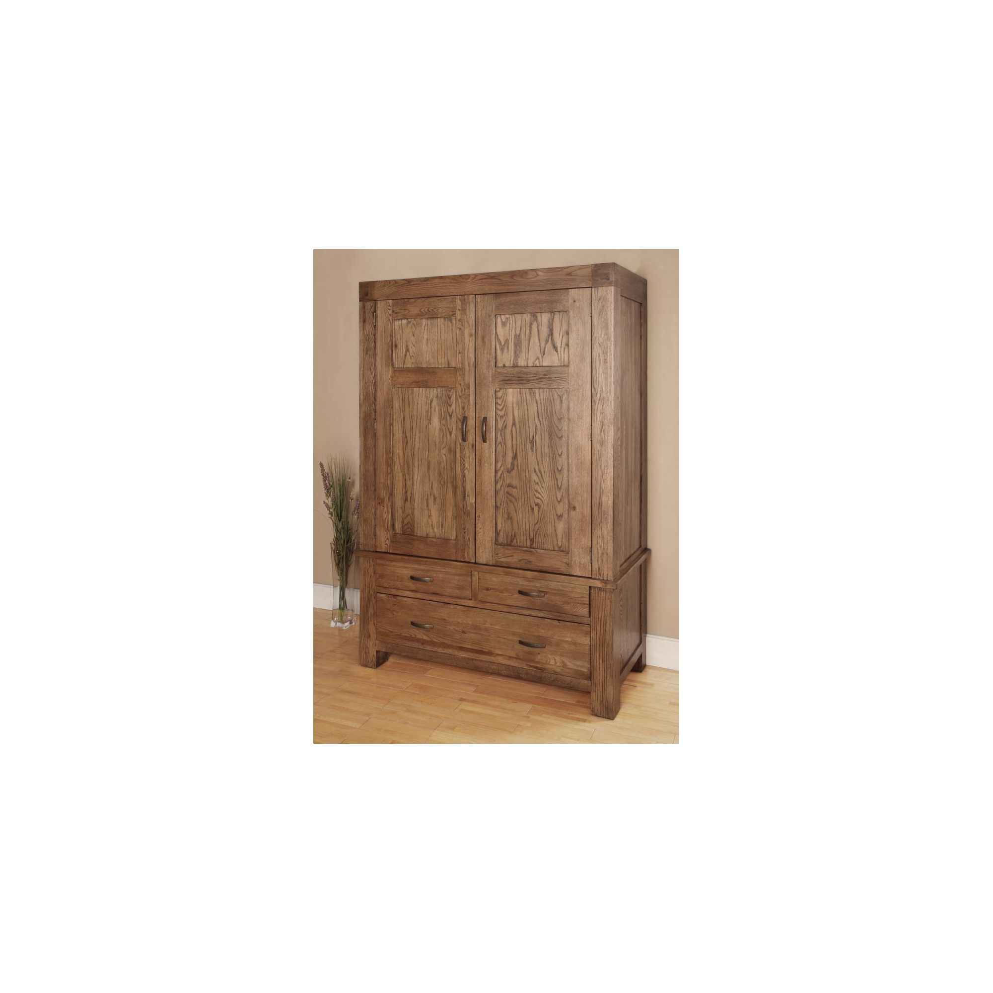 Hawkshead Santana Double Wardrobe in Rich Patina at Tescos Direct