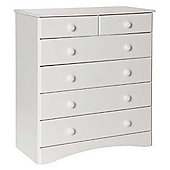 Scandi White Two Over Four Chest of Drawers