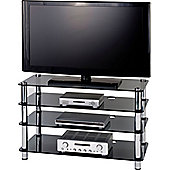 Optimum Four Shelf AV Stand with Smoked Glass