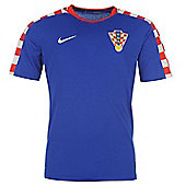 2014-15 Croatia Away World Cup Football Shirt - Blue