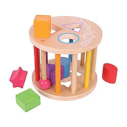 Bigjigs Toys First Rolling Shape Sorter