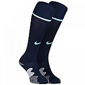 2013-14 Man City 3rd Nike Football Socks (Navy) - Navy