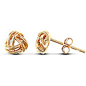 Jewelco London 9ct Solid Gold double row Knot design Studs