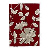Oriental Carpets & Rugs Hong Kong Red Tufted Rug - 150cm L x 90cm W