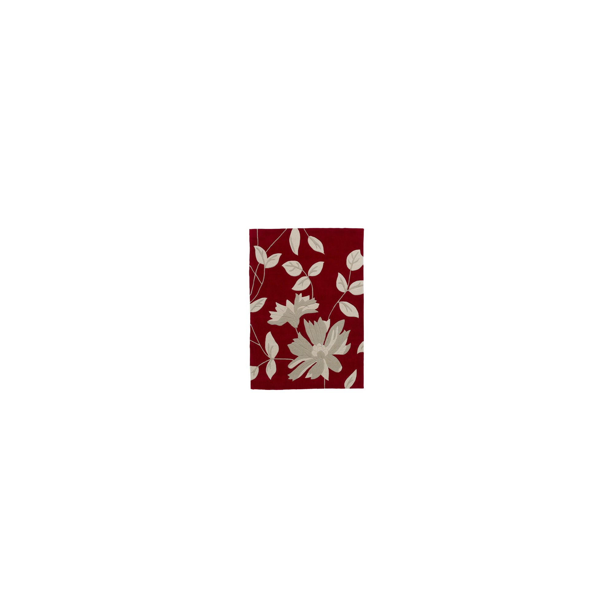 Oriental Carpets & Rugs Hong Kong Red Tufted Rug - 150cm L x 90cm W