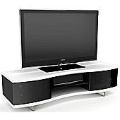 BDI White Curved Cabinet For TVs up to 70 inch