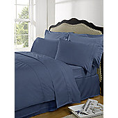 Highams Plain Dye Pillowcase, Pair - Blue