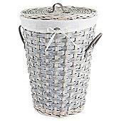 Tesco Grey Wicker Lined Laundry Basket