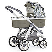 Bebecar Hip Hop Urban Denim Combi Pram (Green Patchwork)