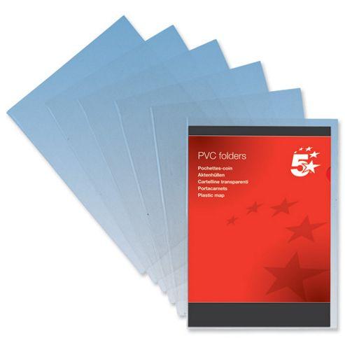 5 Star Folder PVC Cut Flush A4 Clear [Pack 10]