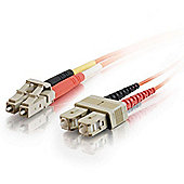 Cables to Go 20m LC/SC Duplex 50/125 Multimode Fibre Patch Cable Orange