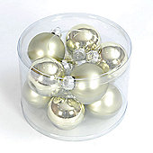 57mm x 10 Apple Green Glass Balls Shiny & Mat Finish