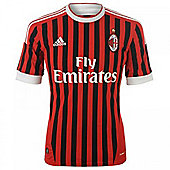 2011-12 AC Milan Adidas Home Football Shirt (Kids) - Red