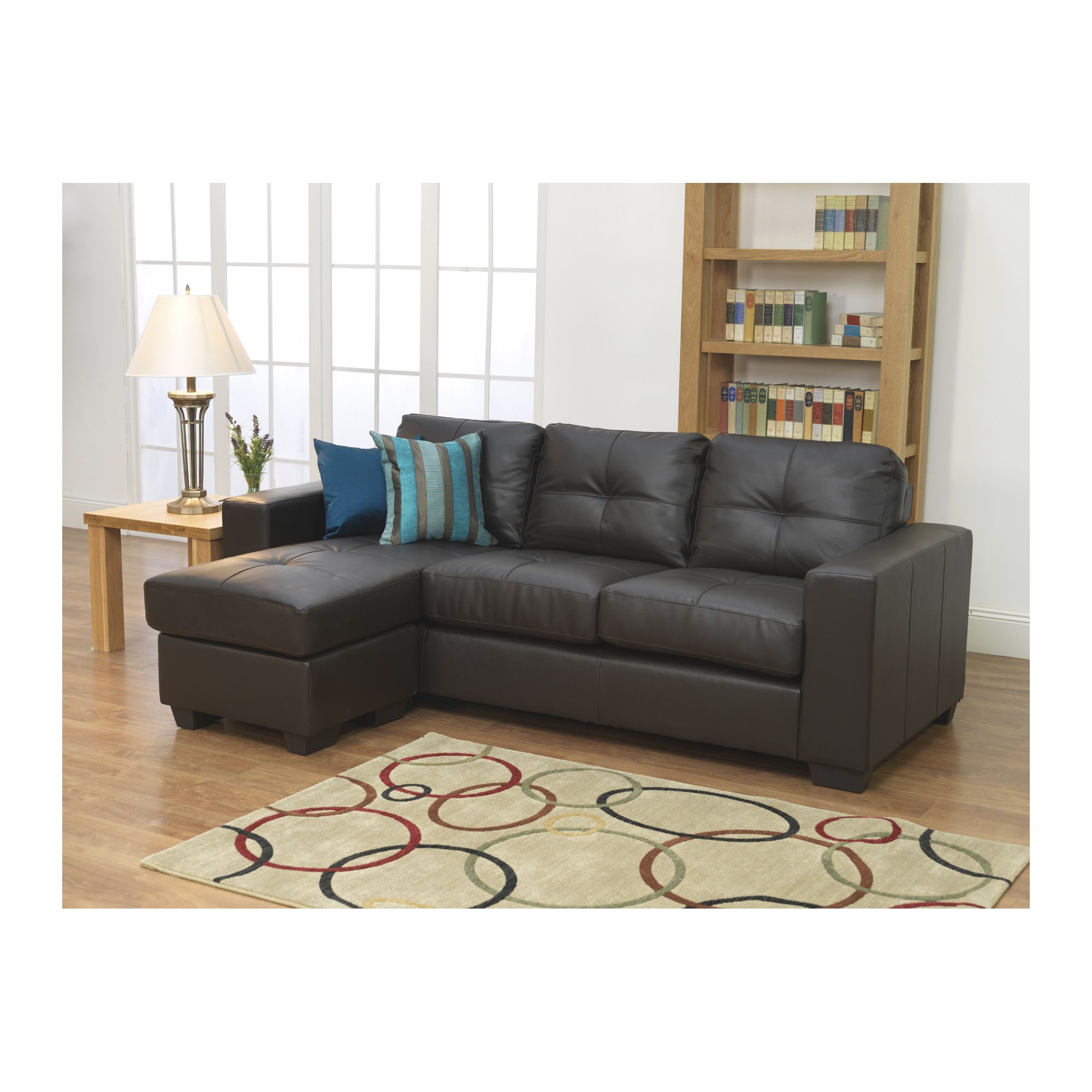 Furniture Link Gemona L Sofa in Brown at Tesco Direct