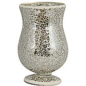 House Additions Mosaic Goblet Hurricane - Cream