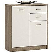 Kensington 2 Door 2 drawer Cupboard Grey Oak/White