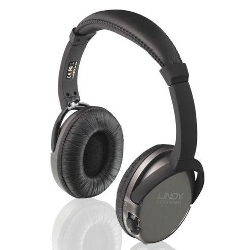 Lindy WHF-45 Wireless TV Headphones Black