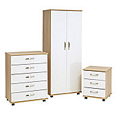 Ideal Furniture Regal Bedroom Collection - Cocobola / White Gloss
