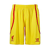 2014-15 Liverpool Away Shorts (Yellow) - Kids - Yellow