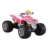 BIG Ride On Kids Electric 12v Raptor Quad Bike - Pink