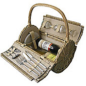 Wicker Valley 2 Person Barrel Picnic Basket