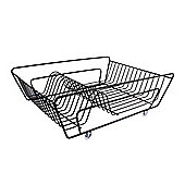 Tesco Stainless Steel Dish Drainer, Black