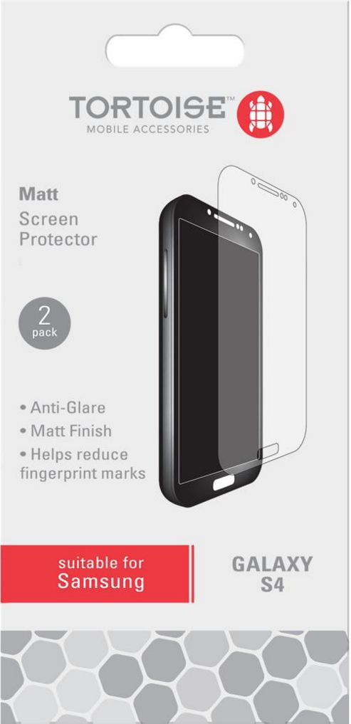 Tortoise™ Screen Protector, for Galaxy S4, Clear.