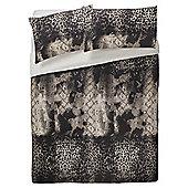 Tesco Leopard Print Duvet Cover And Pillowcase Set, King Size