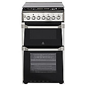 Indesit ITL50G1, Freestanding, Gas Cooker, 50cm, Stainless Steel, Twin Cavity, Single Oven