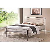 Waverley 4FT6 Double Metal Bed Frame with Sprung Slatted and Wooden Slats